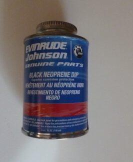 909570 black neoprene dip Evinrude Johnson