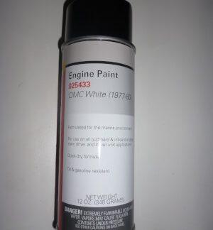 025433 Spray Paint OMC White 1977- 80